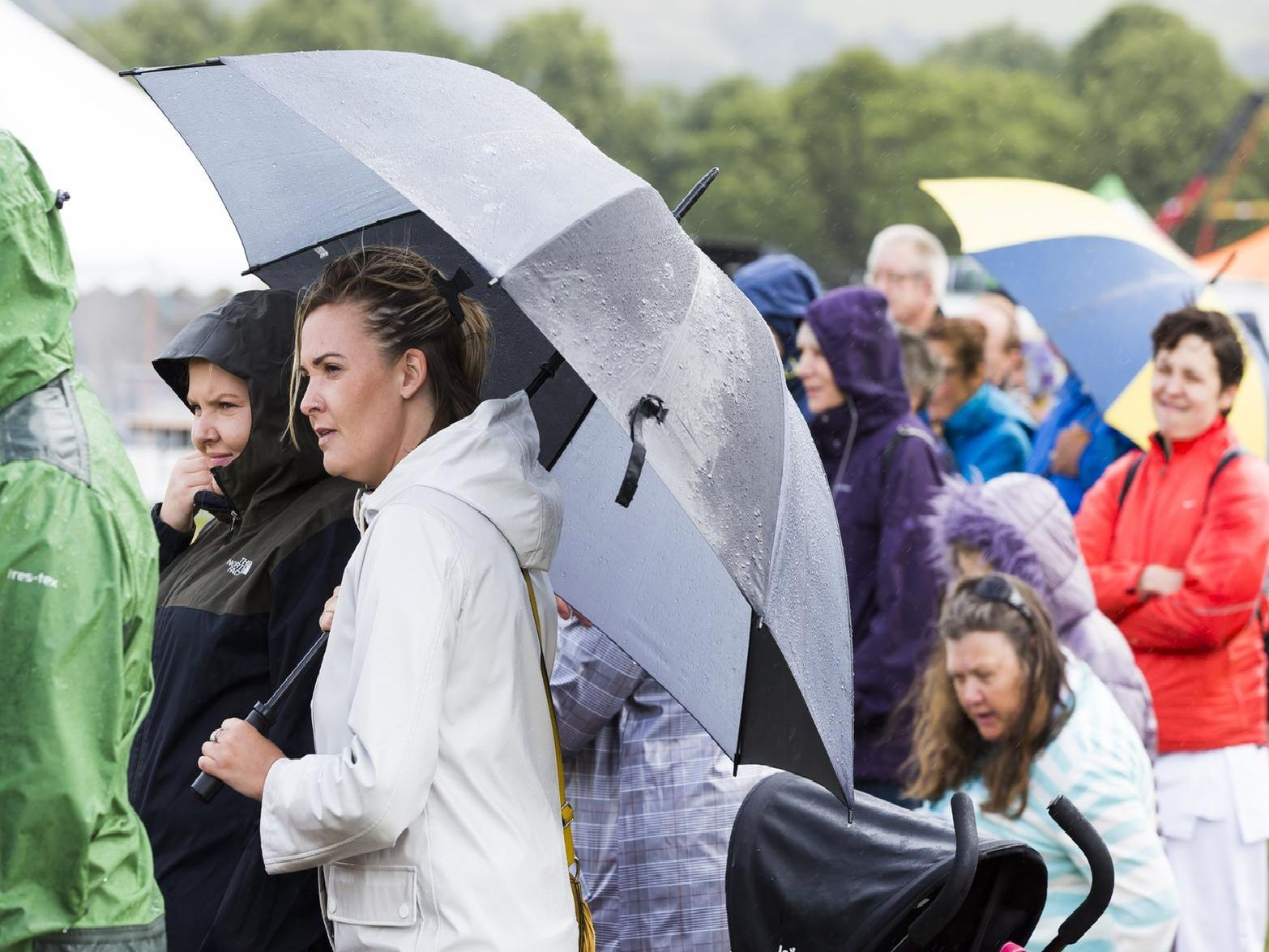 The brollies were out for this year's Halifax Show.