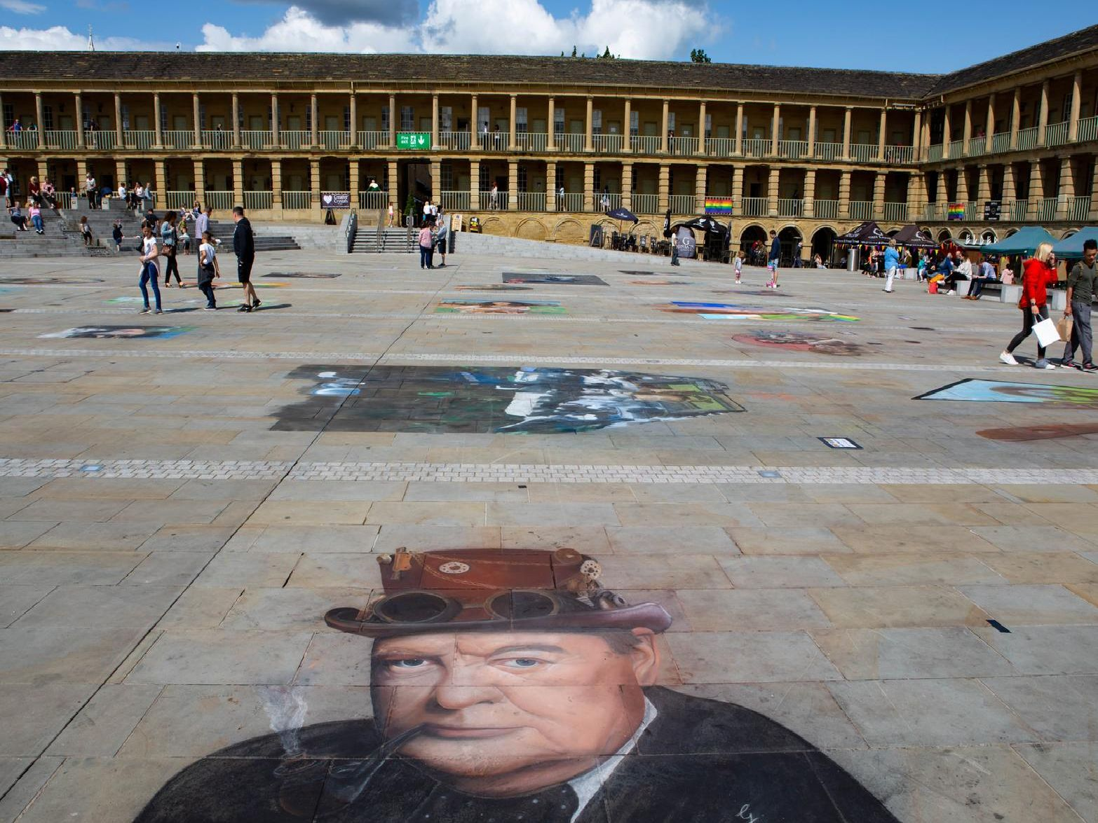 Coloured Earth Festival of street art, now at the Piece Hall, Halifax