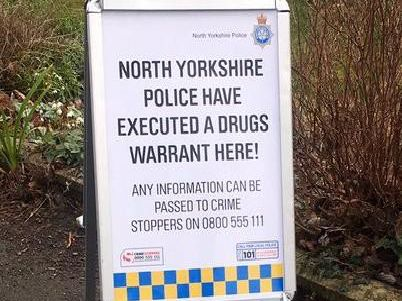 Two people have since been released under investigation after a drugs warrant was executed by North Yorkshire Police