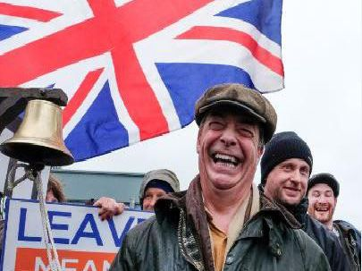 Nigel Farage on the March to Leave in Hartlepool. Picture: Getty Images.