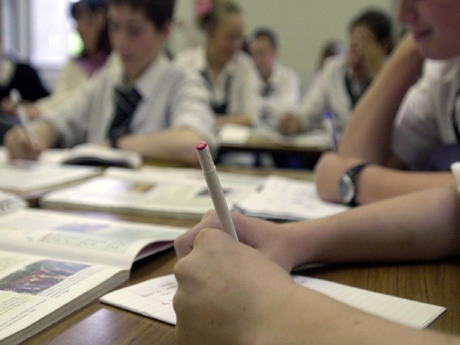 Images of new starters at Harrogate schools.