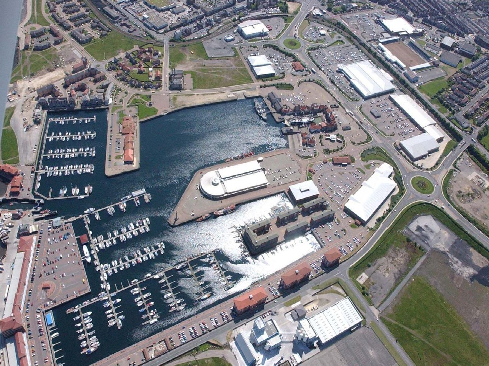 An aerial view of Hartlepool