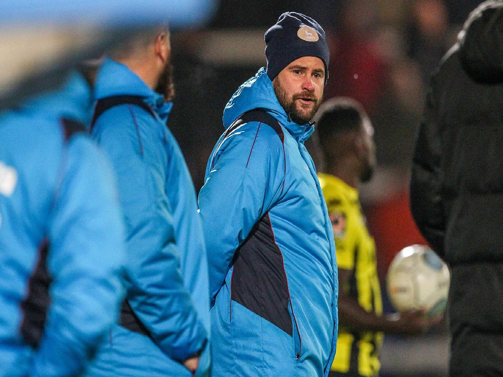Hartlepool United manager Matthew Bates.