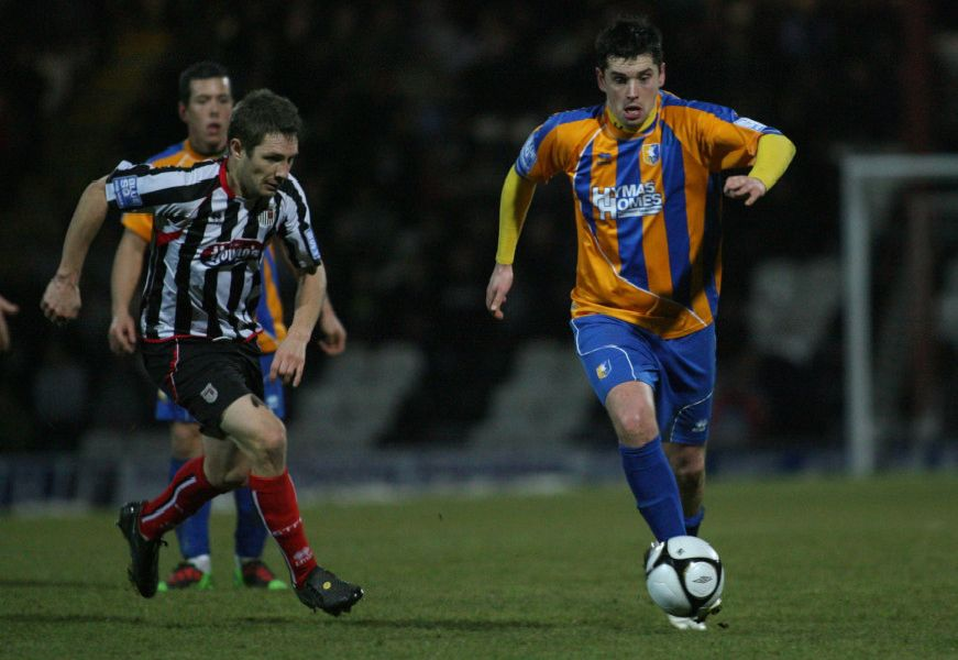 The Stags lost 7-2 at Blundell Park in 2011.