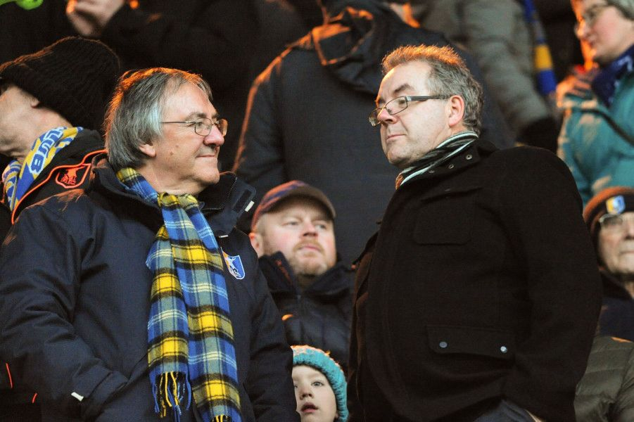 Mansfield Town fans during the 1-0 defeat to Yeovil. Can you spot a familiar face in the crowd? Pics by Anne Shelley.