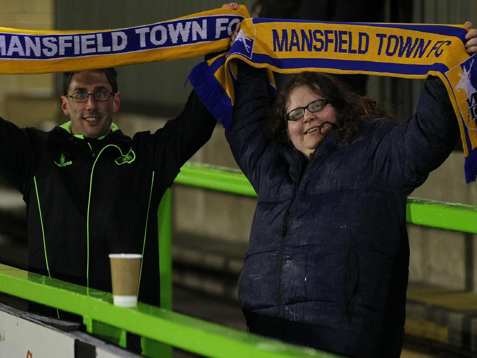 Stags fans at Forest Green Rovers.