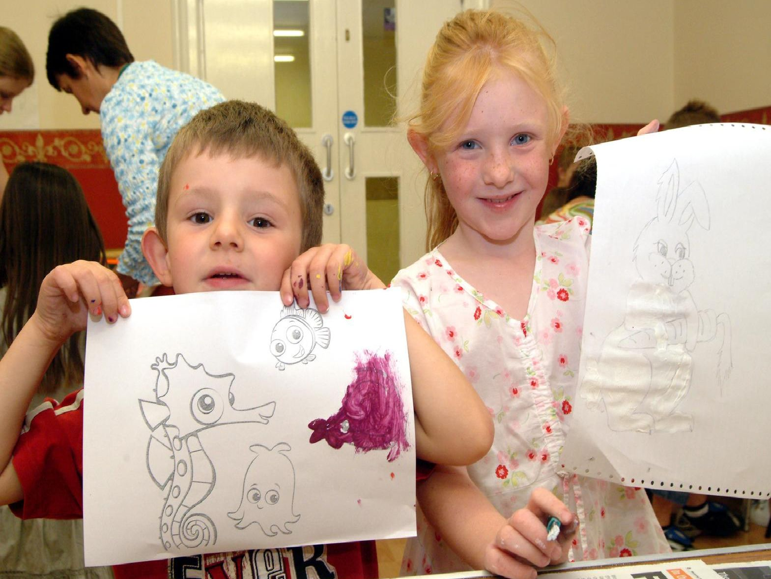 2007: Ben Moss and Lucy Capewell are having fun at a play session at the John Godber Centre in Hucknall.