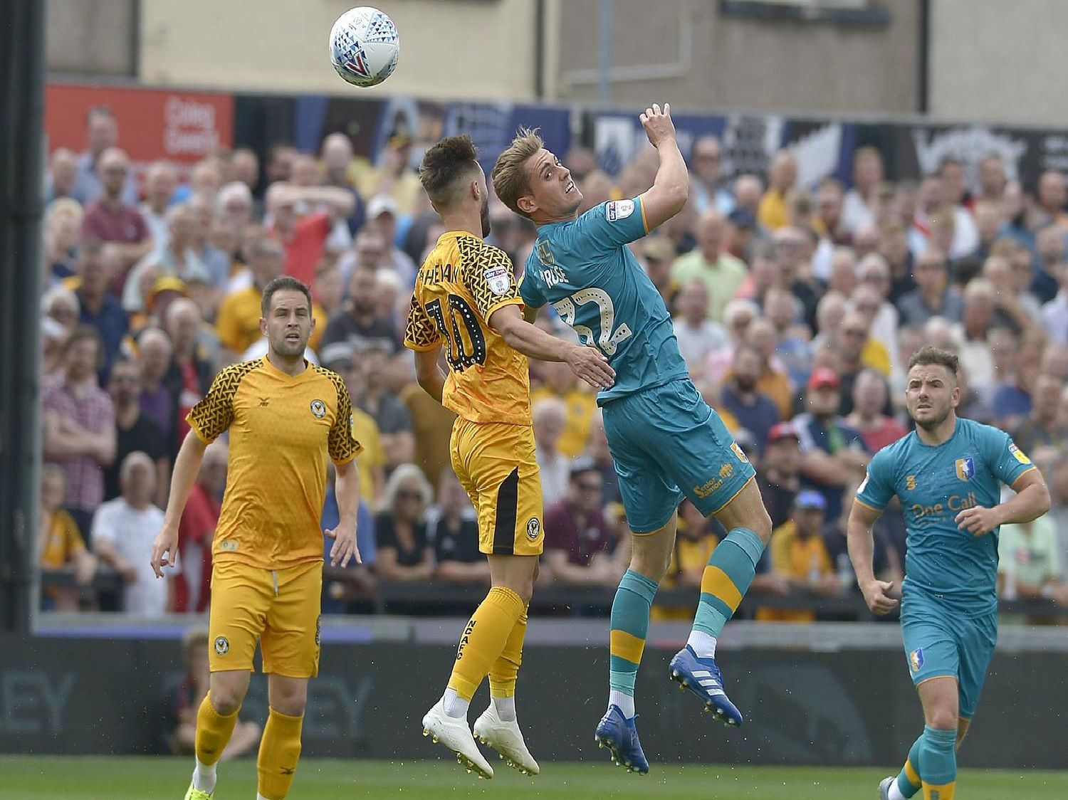Match action from Mansfield's battling 2-2 draw at Newport County.