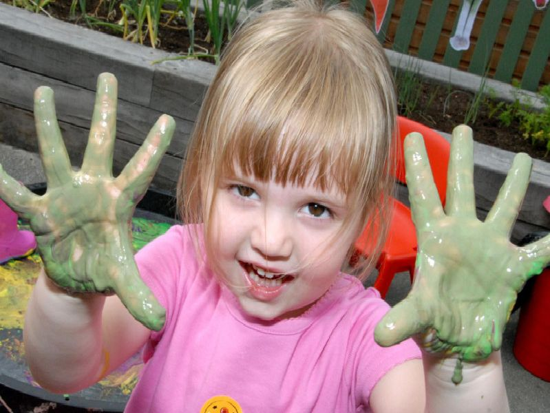 2010: Summer Priestley is pictured enjoying a spot of painting at the summer fair at High Leys Childrens Centre in Hucknall. Did you go to this event?