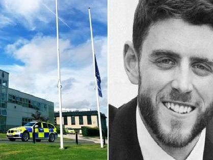 Derbyshire Police fall silent to mark tragic death of PC Andrew Harper