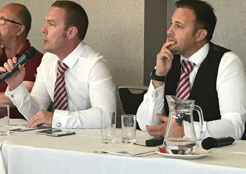 Morecambe FC's owners Jason Whittingham and Colin Goldring