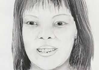 An artist's impression of the body of the woman, who has now been identified as Lamduan Armitage nee Seekanya.