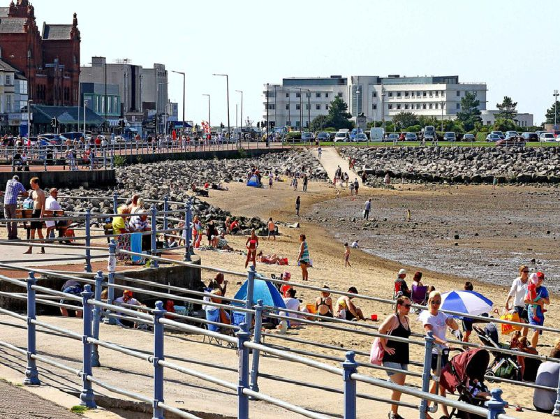 Morecambe prom was a hive of activity.