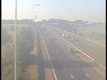 A crash has closed one lane of the M6 between junctions 26 and 27, pictured