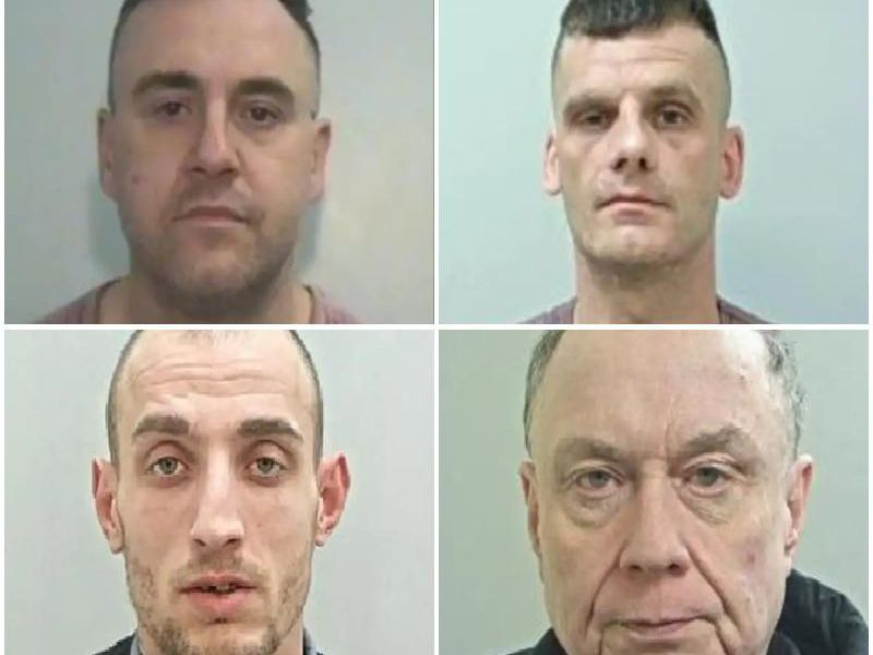 These are the faces of the criminals locked up in and around Preston in January