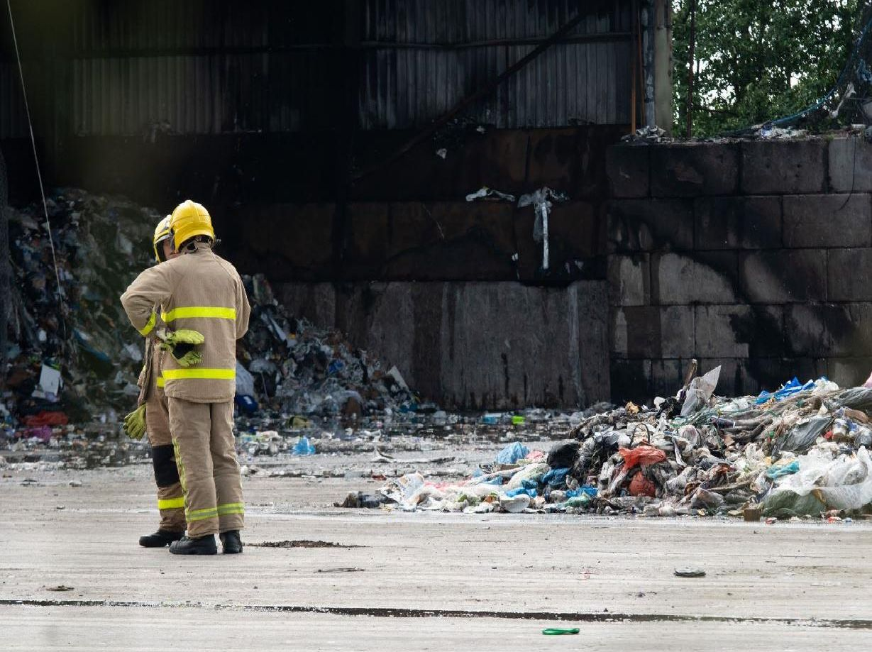 Lancashire Fire and Rescue Service sent a Stinger high pressure unit from Blackburn to help bring the blaze under control