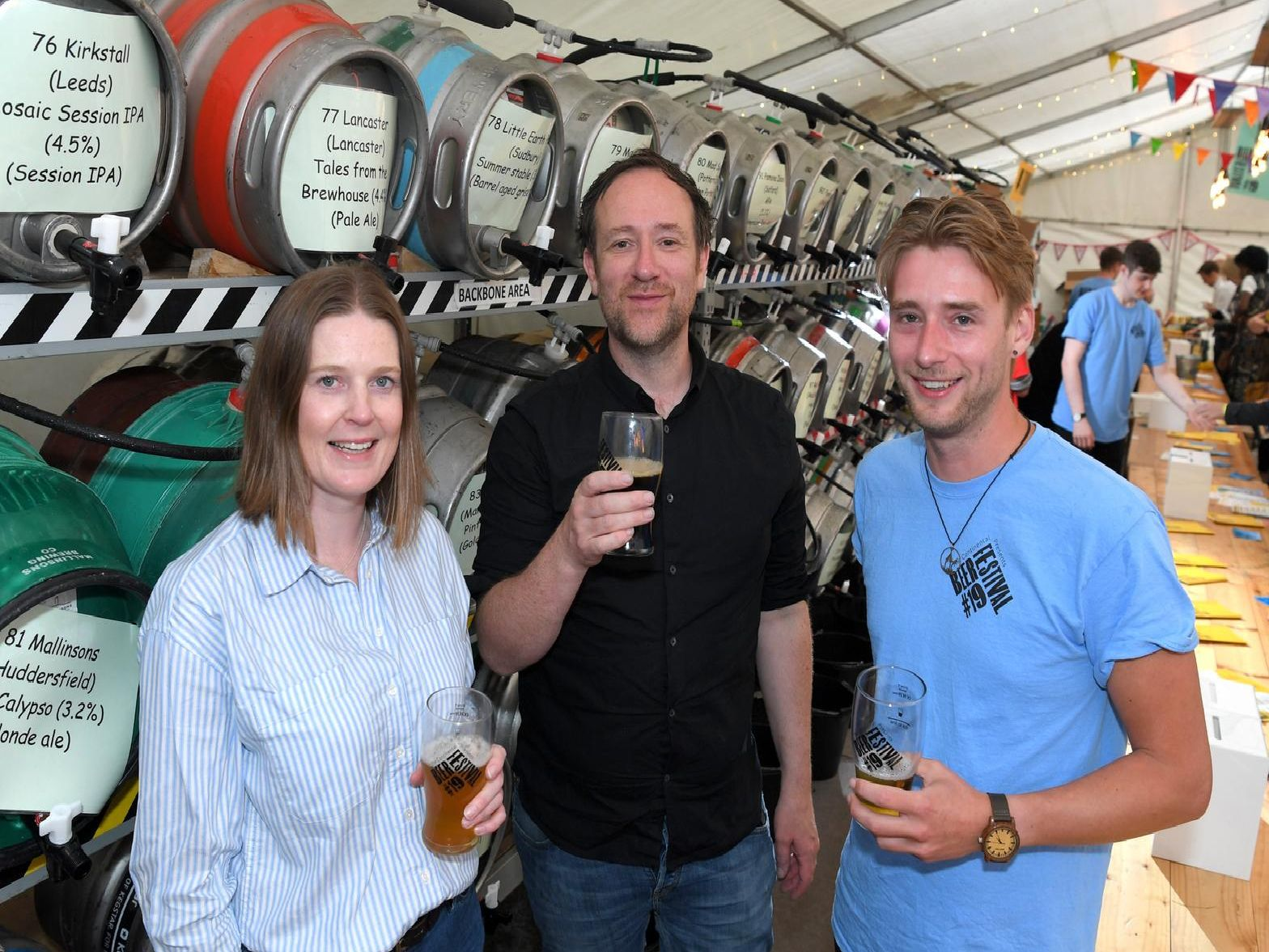 Organisers Nicola Heritage, Jeremy Rowlands and Nick Elsby
