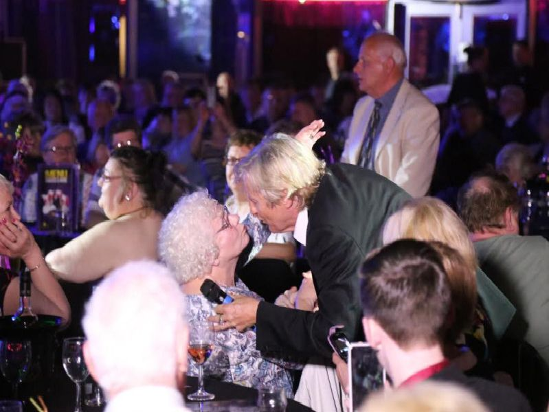 Joe Longthorne meets fans at his 60th birthday party at Viva Blackpool.
