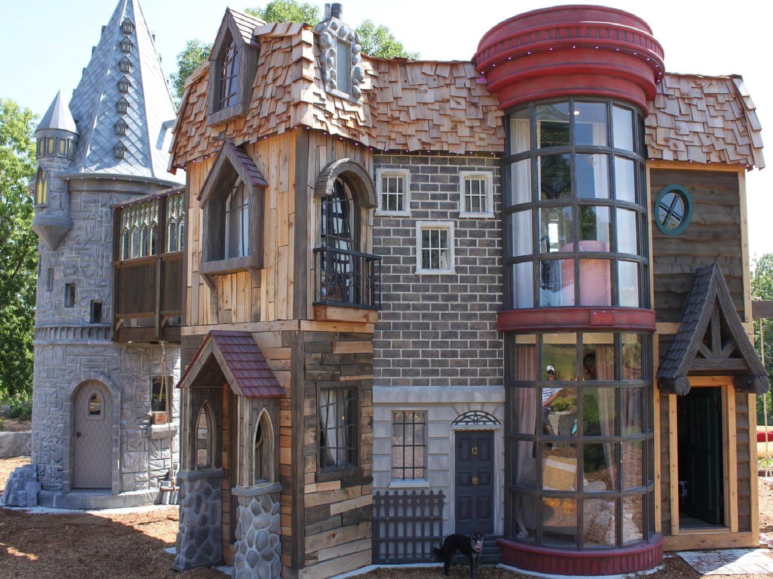 Take a look inside this little girl's massive 350sqft Harry Potter themed playhouse