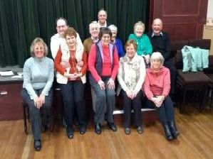 The organisers of a fund-raising auction and jumble sale at St James' Church.