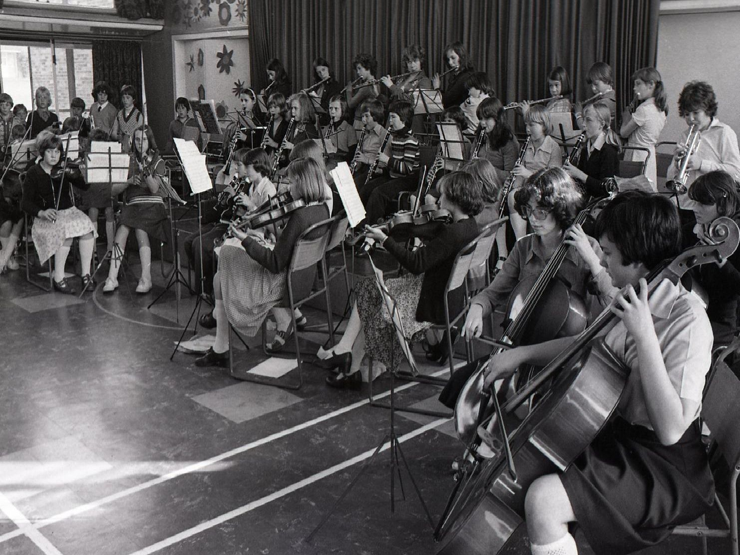 The junior maestros at Leyland Music Centre showed off their skills in an end-of-year concert in front of a packed audience at Broadfield School, Haig Avenue, Leyland. Pictured above, the whole orchestra warms up