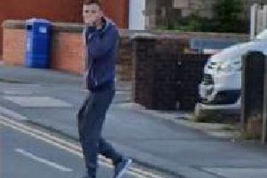 Police want to speak to this man in relation to the theft of a bag at around 3pm on Friday, 5 of July around Western Drive/Mellor Road in Leyland