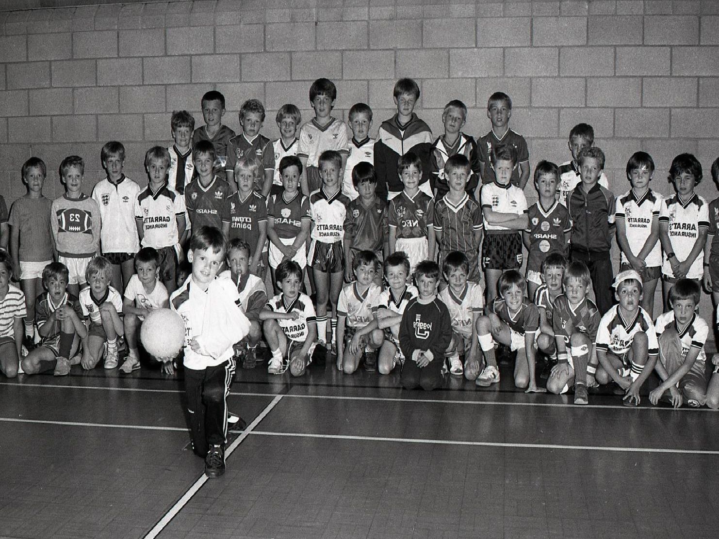 These were some of the youngsters aged between seven and 11 years who took part in the Bamber Bridge leisure centre It's a Knockout tournament, with Andrew Smith (centre) who unluckily couldn't take part due to breaking his wrist