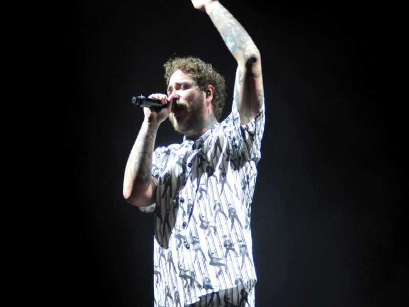 Post Malone, who closed the 2019 Leeds Festival.