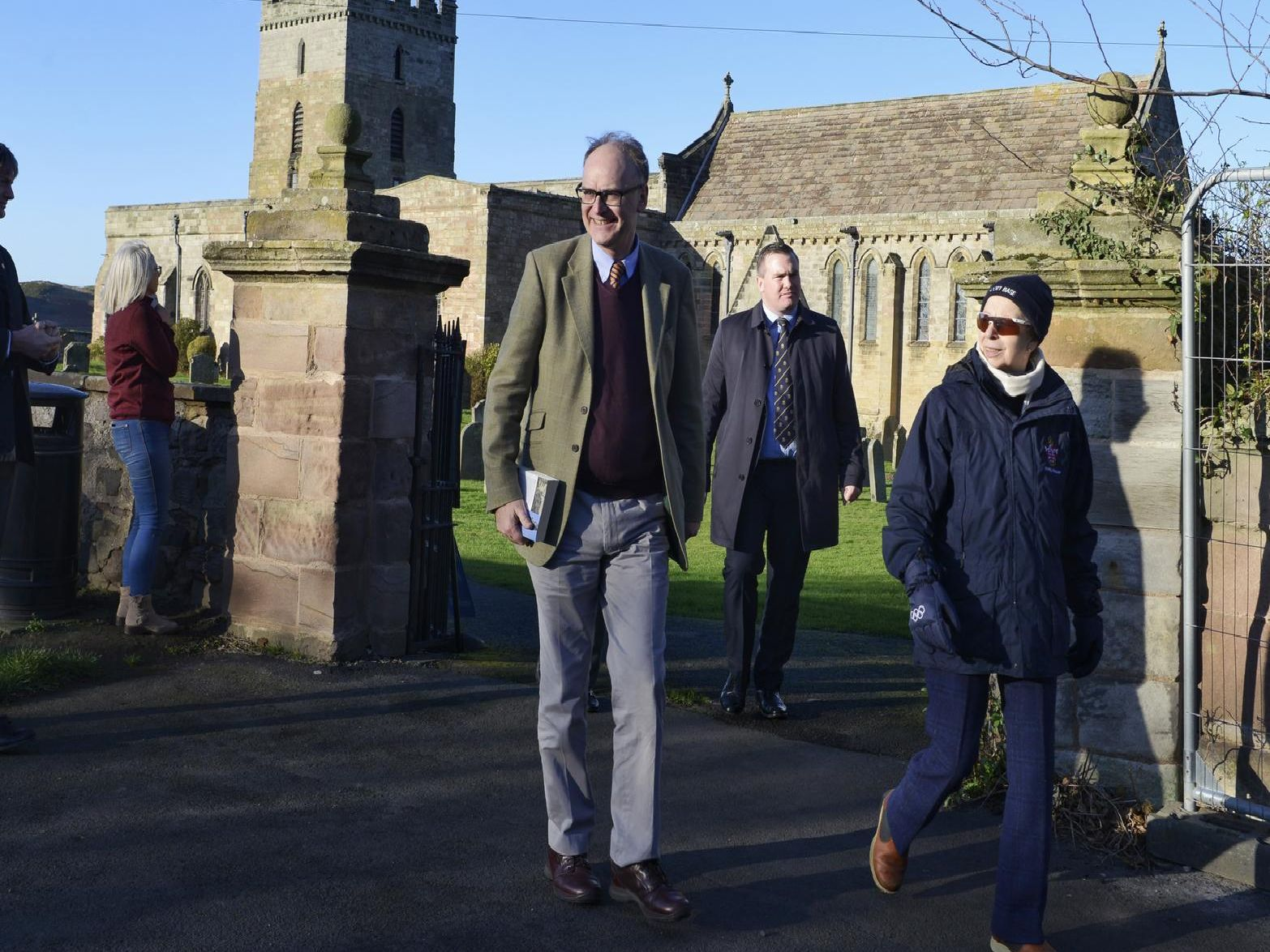 HRH Princess Anne visits St Aidan's Church in Bamburgh