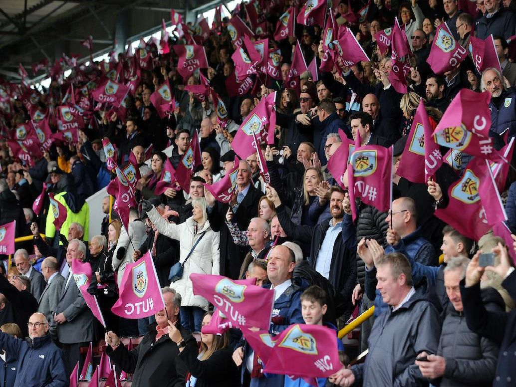 Clarets fans had plenty of reasons to cheer during the 2-0 win over Cardiff. Photo: Rich Linley/CameraSport.