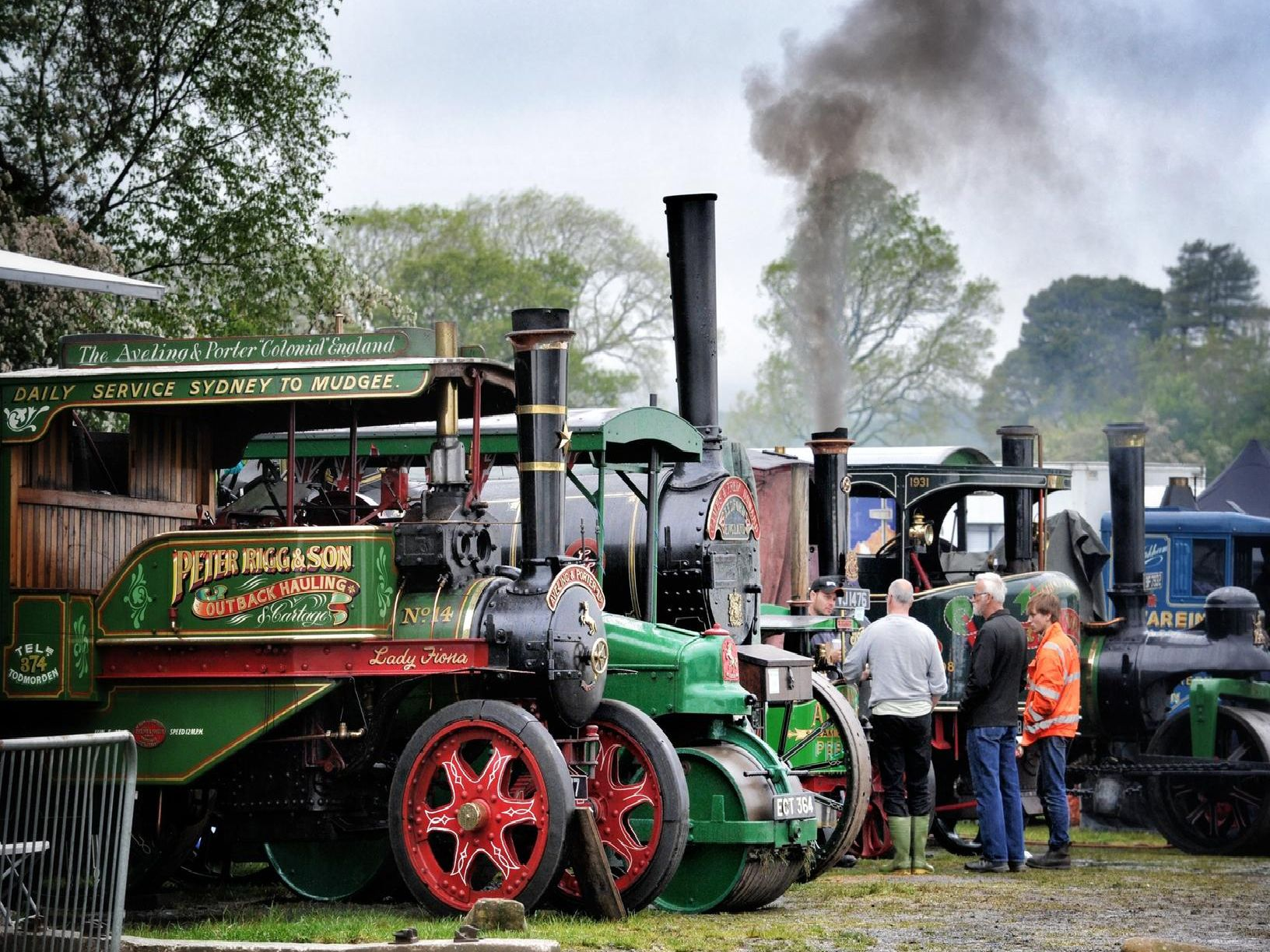 Some of the steam engines on display. Photo by Julian Brown