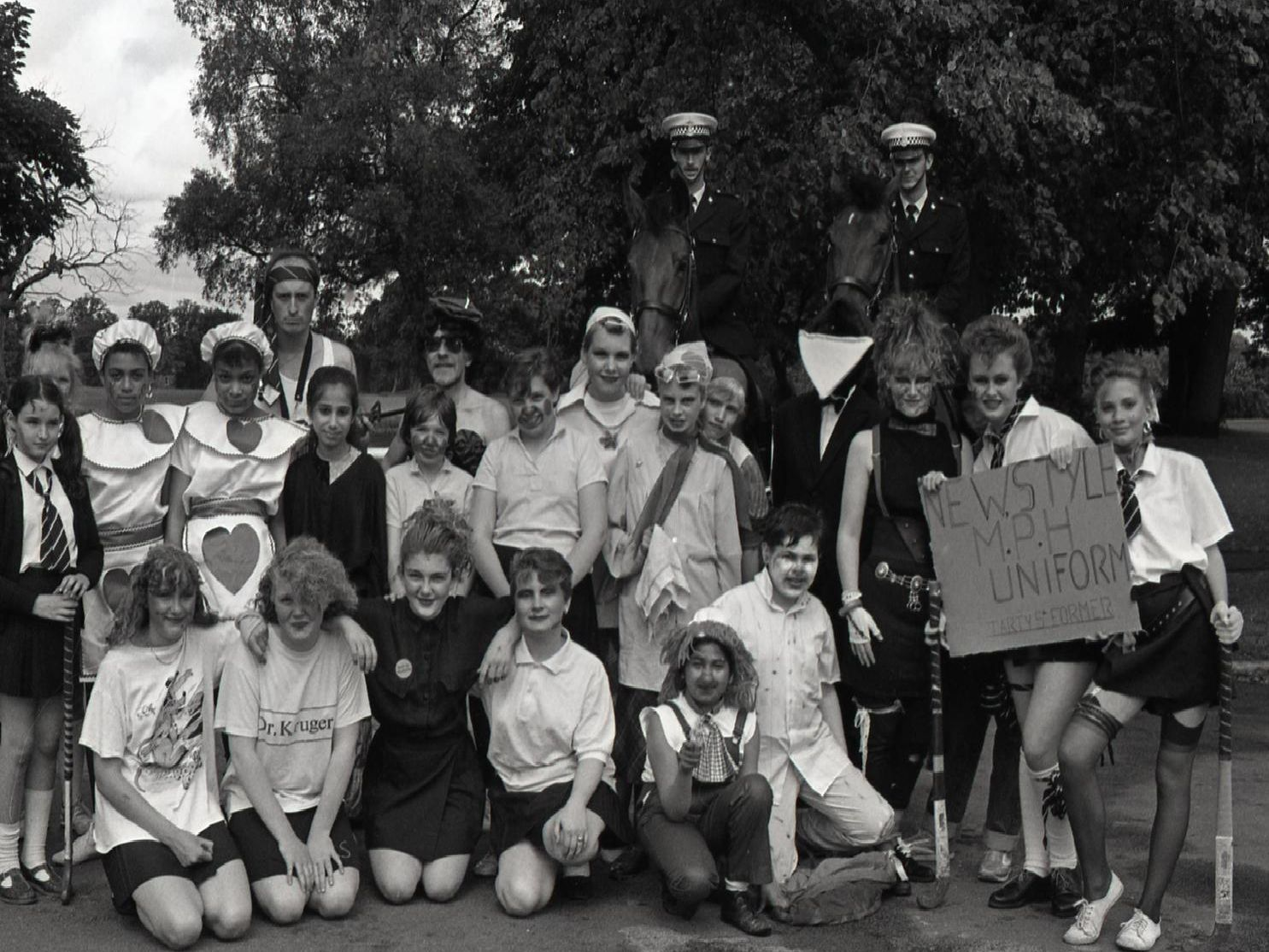 Children and staff from Northlands and Parklands High Schools, many of them in fancy dress, were taking part in a Sports Aid 88 worldwide charity run, on Preston's Moor Park