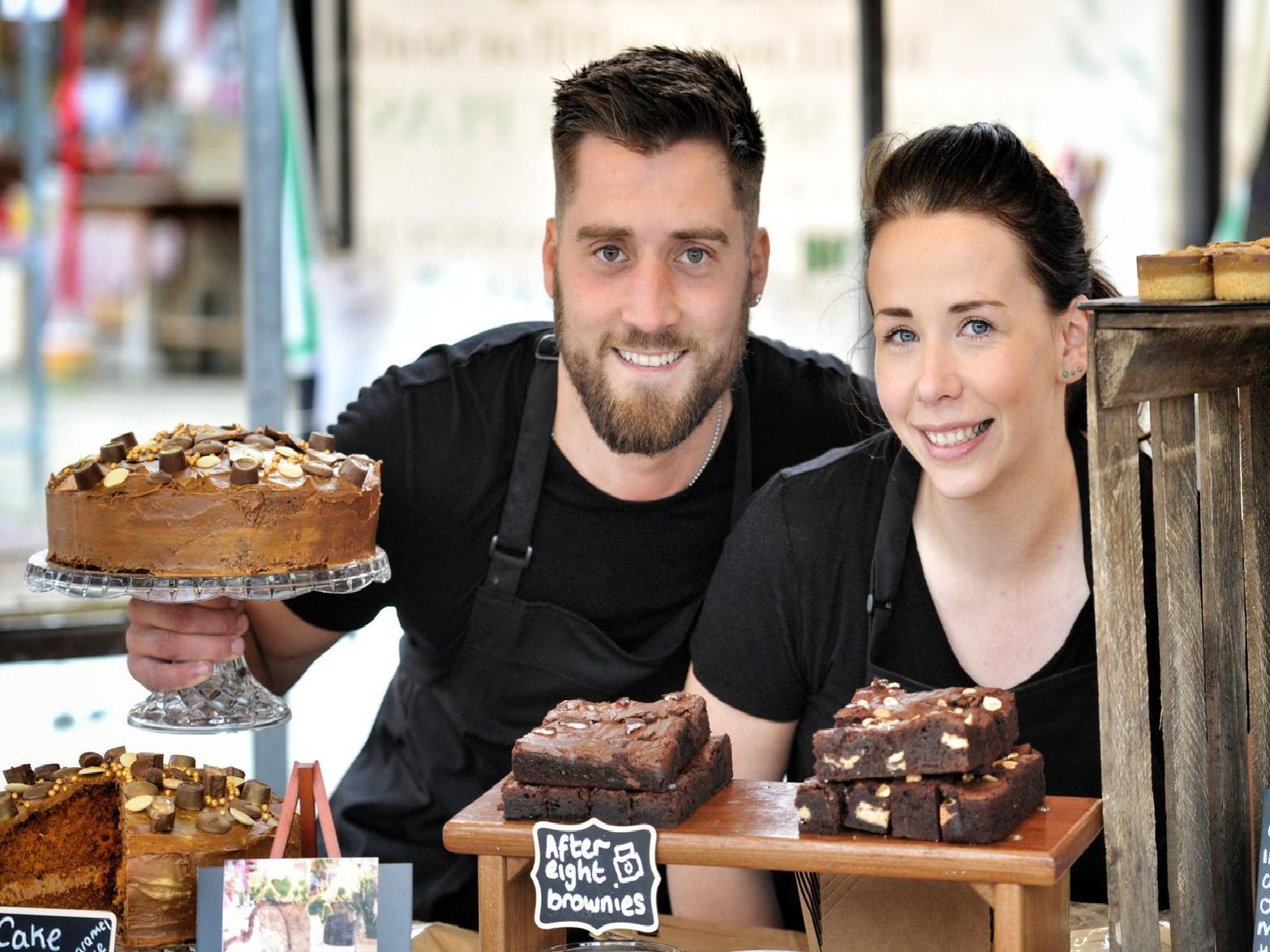 Alton Riley and Lydia Cowgill of Millionaires Bakery