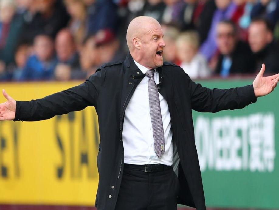 Clarets boss Sean Dyche at Turf Moor
