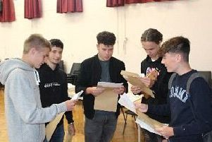 Students at The Market Weighton School take a look at their results.