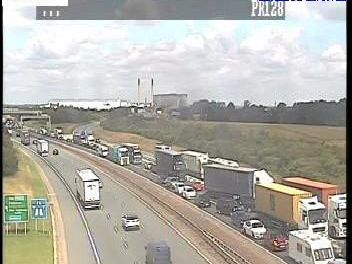 More than 10 miles of traffic have been reported southbound on the A1 today (Monday). Picture: Highways England.