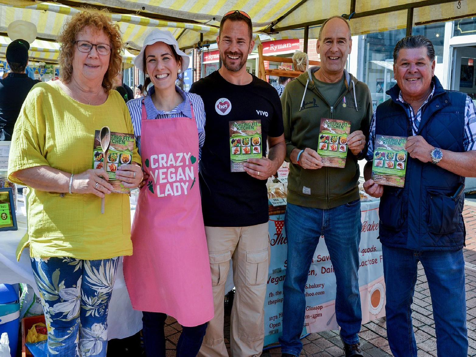 Organisers of the event, Fighting Fit Kitchen are pictured with Coun Madelaine Richardson (left,  Coun Tony Eaton and Coun Kevin Greaves