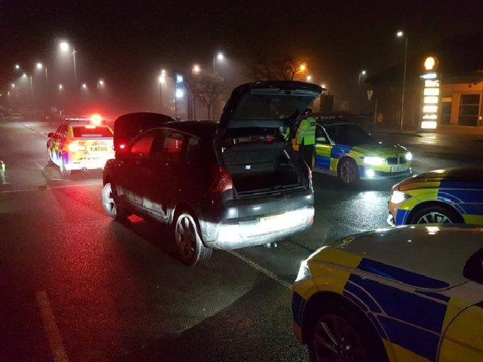 Cars taken off the road by Derbyshire Roads Policing Unit.