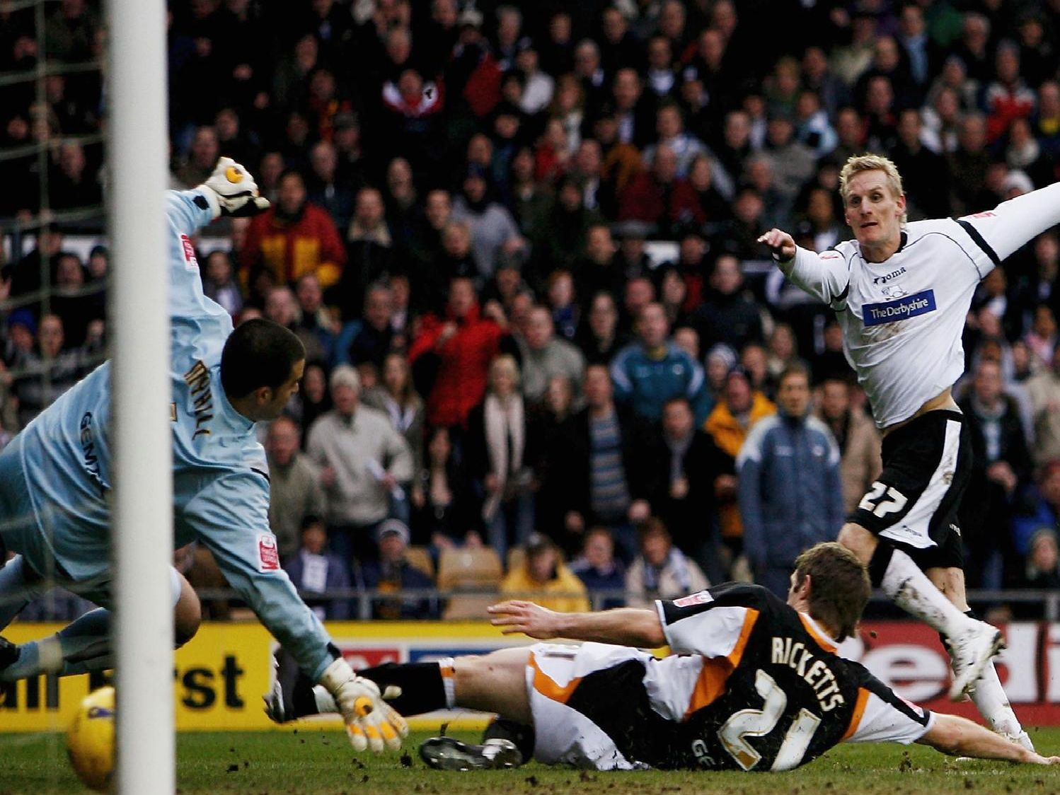 Gary Teale scores for Derby.