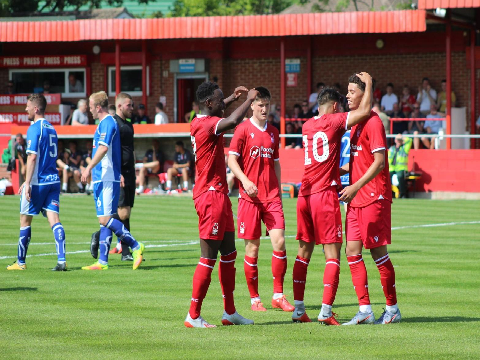 Nottingham Forest edged it 2-1 in their opening friendly against Alfreton Town.