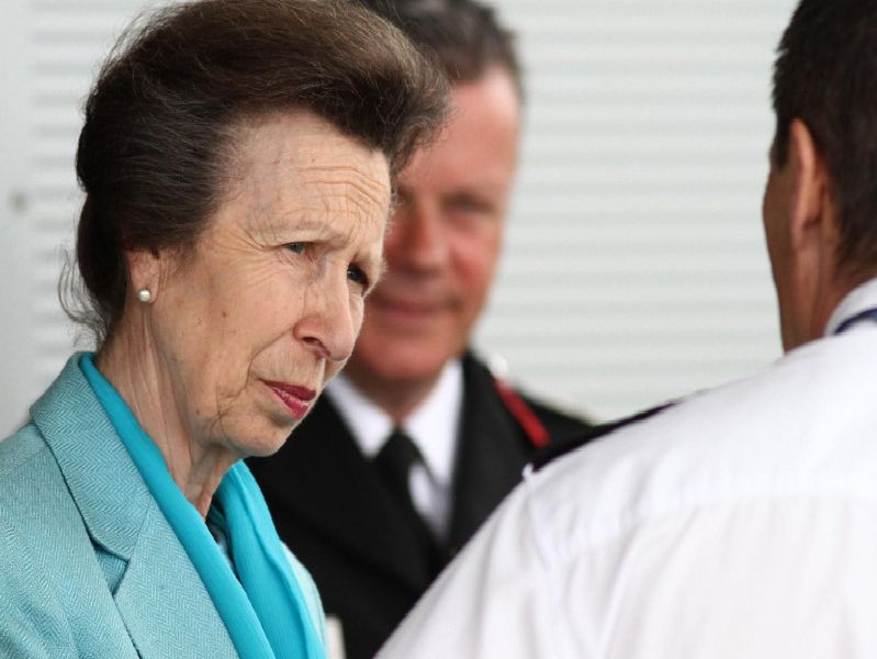The Princess Royal visiting the Police and Fire Service Joint Training Centre,