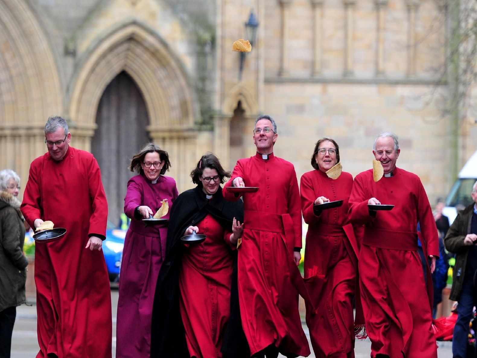 The Dean of Ripon, the Very Rev John Dobson, the Bishop of Ripon, the Rt Rev Dr Helen-Ann Hartley, and members of the Ripon Cathedral clergy team. Picture: Picture Gerard Binks.