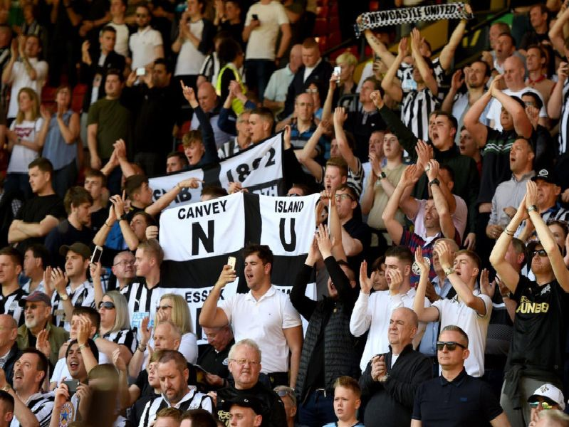 Newcastle United fans at Watford