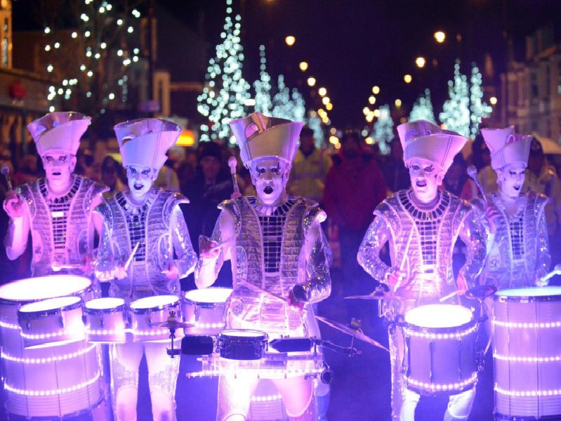 The Spark drummers.