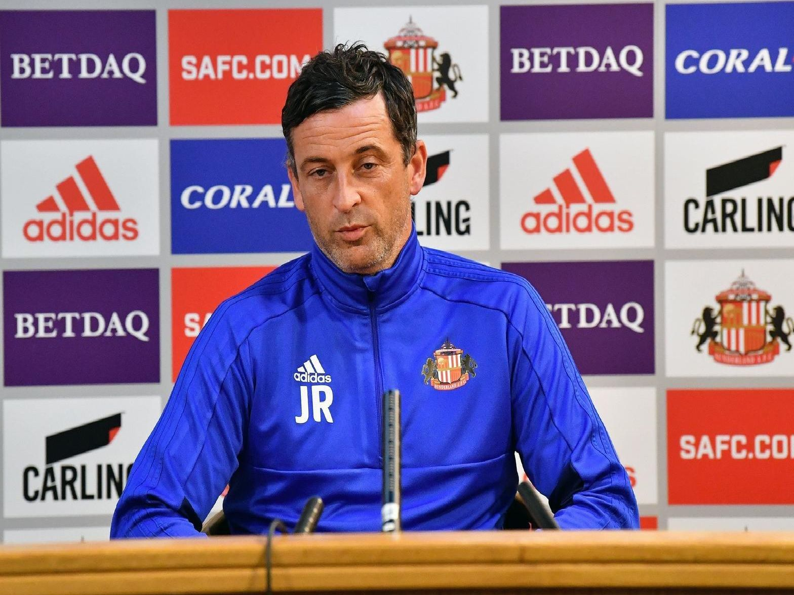 Jack Ross faced the press ahead of Sunderland's trip to Charlton