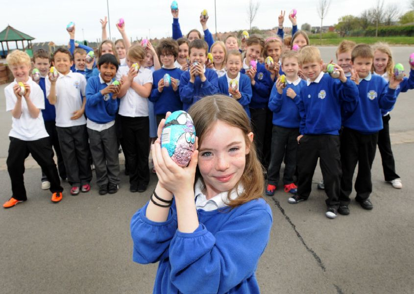 2011 Easter egg competition at Westoe Crown Village Primary. Eight year old Abbey.