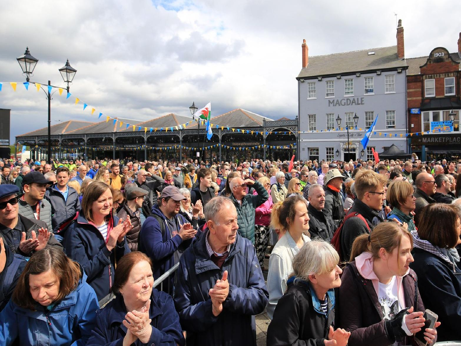 Crowds in Doncaster.