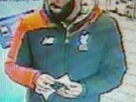 A CCTV image of the man who left cannabis behind at Rainhill Post Office