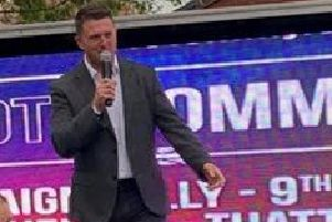 Tommy Robinson in St Helens
