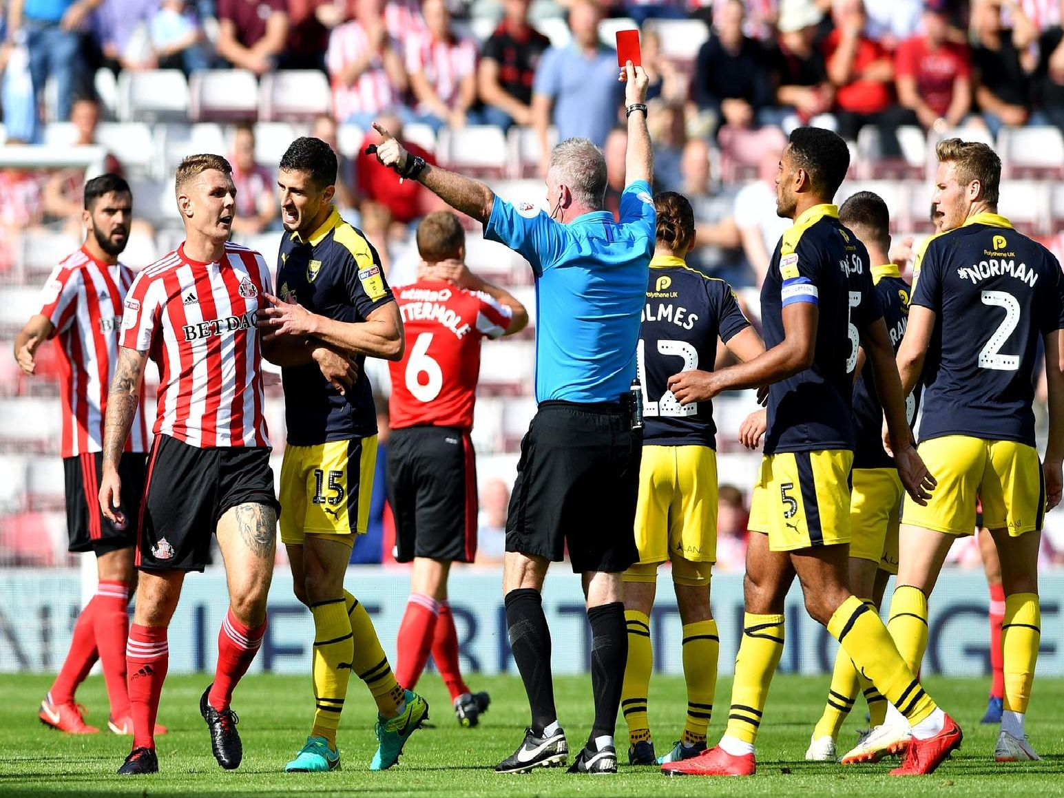 Six red cards - but where do Sunderland rank in League One dirtiest team standings?